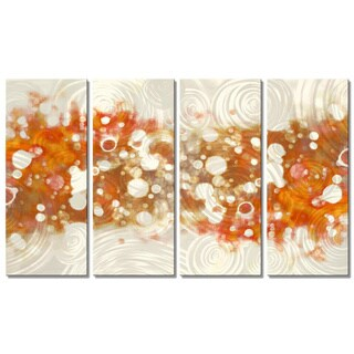Perfect Christopher Price U0027Drip Brokeh  Orangeu0027 Metal Wall Art