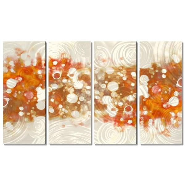 Christopher Price X27 Drip Brokeh Orange Metal Wall Art