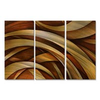 Michael Lang 'Tri Fold Ribbon' Metal Wall Decor 3-piece Set