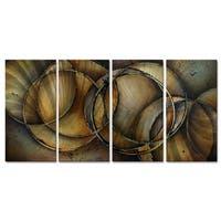 Michael Lang 'Loops of Life' Metal Wall Art 4-piece Set
