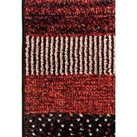 Eternity Striped Multi-colored Rug - 6'7 x 9'6