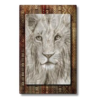 Holly Carmichael 'African Lion' Metal Wall Sculpture