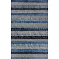 Eternity Striped Blue Rug (6'7 x 9'6) - 6'7 x 9'6