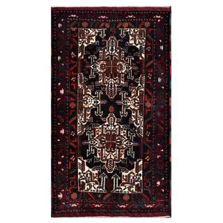 Herat Oriental Afghan Hand-knotted Tribal Balouchi Wool Rug (3'9 x 6'5)