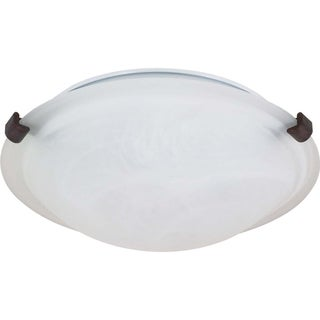 Nuvo 1-light Old Bronze 13-inch Flush Mount