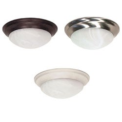 Nuvo 2-light Alabaster Glass 14-inch Flush Mount