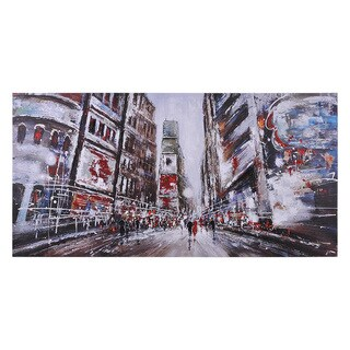 Ren Wil Giovanni Russo 'Evening in Times Squares' Hand-painted Canvas Art