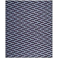 Safavieh Hand-woven Moroccan Reversible Dhurrie Purple Wool Rug - 8' x 10'