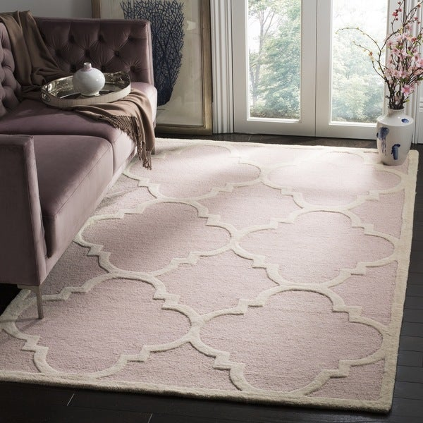 Safavieh Handmade Moroccan Cambridge Light Pink/ Ivory Wool Rug - 9' x 12'