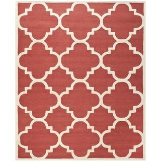 Safavieh Handmade Moroccan Cambridge Rust/ Ivory Wool Area Rug (9' x 12')