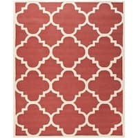 Safavieh Handmade Moroccan Cambridge Rust/ Ivory Geometric Wool Rug (8' x 10')