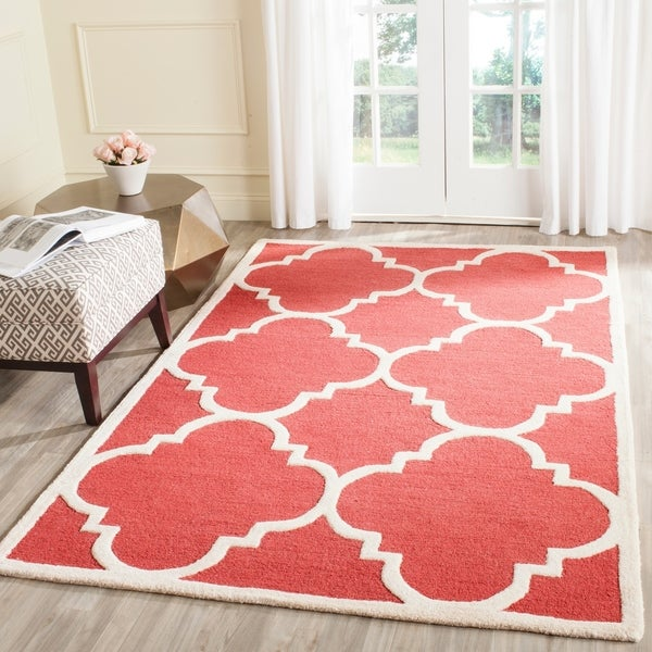 Safavieh Handmade Moroccan Cambridge Rust/ Ivory Geometric Wool Rug - 8' x 10'