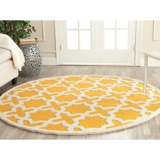 Safavieh Handmade Moroccan Cambridge Gold/ Ivory Wool Rug (9' x 12')