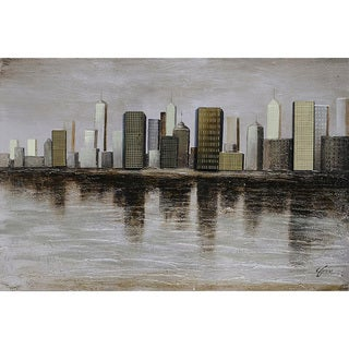 Ren Wil Giovanni Russo 'Downtown' Hand-painted Canvas Art
