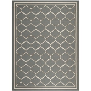 Safavieh Indoor/ Outdoor Courtyard Grey/ Beige Rug (9' x 12')