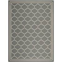 Safavieh Courtyard Transitional Grey/ Beige Indoor/ Outdoor Rug - 9' x 12'