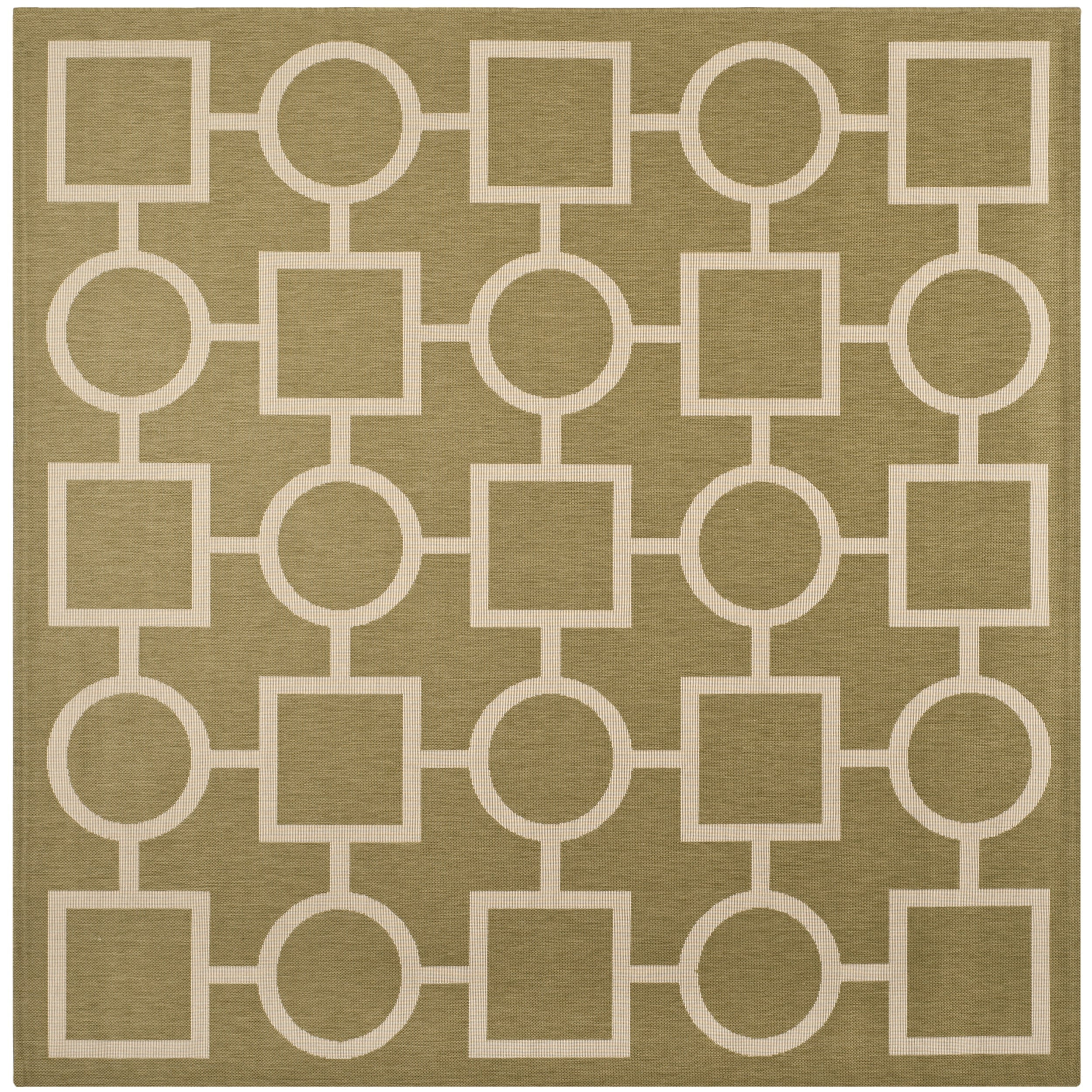 Safavieh Indoor/ Outdoor Courtyard Green/ Beige Rug (7'10...