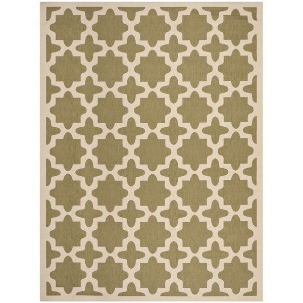 Safavieh Courtyard All-Weather Green/ Beige Indoor/ Outdoor Rug - 9' x 12'