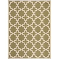 Safavieh Courtyard All-Weather Green/ Beige Indoor/ Outdoor Rug - 8' x 11'