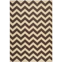 Safavieh Courtyard Chevron Dark Brown Indoor/ Outdoor Rug - 9' x 12'