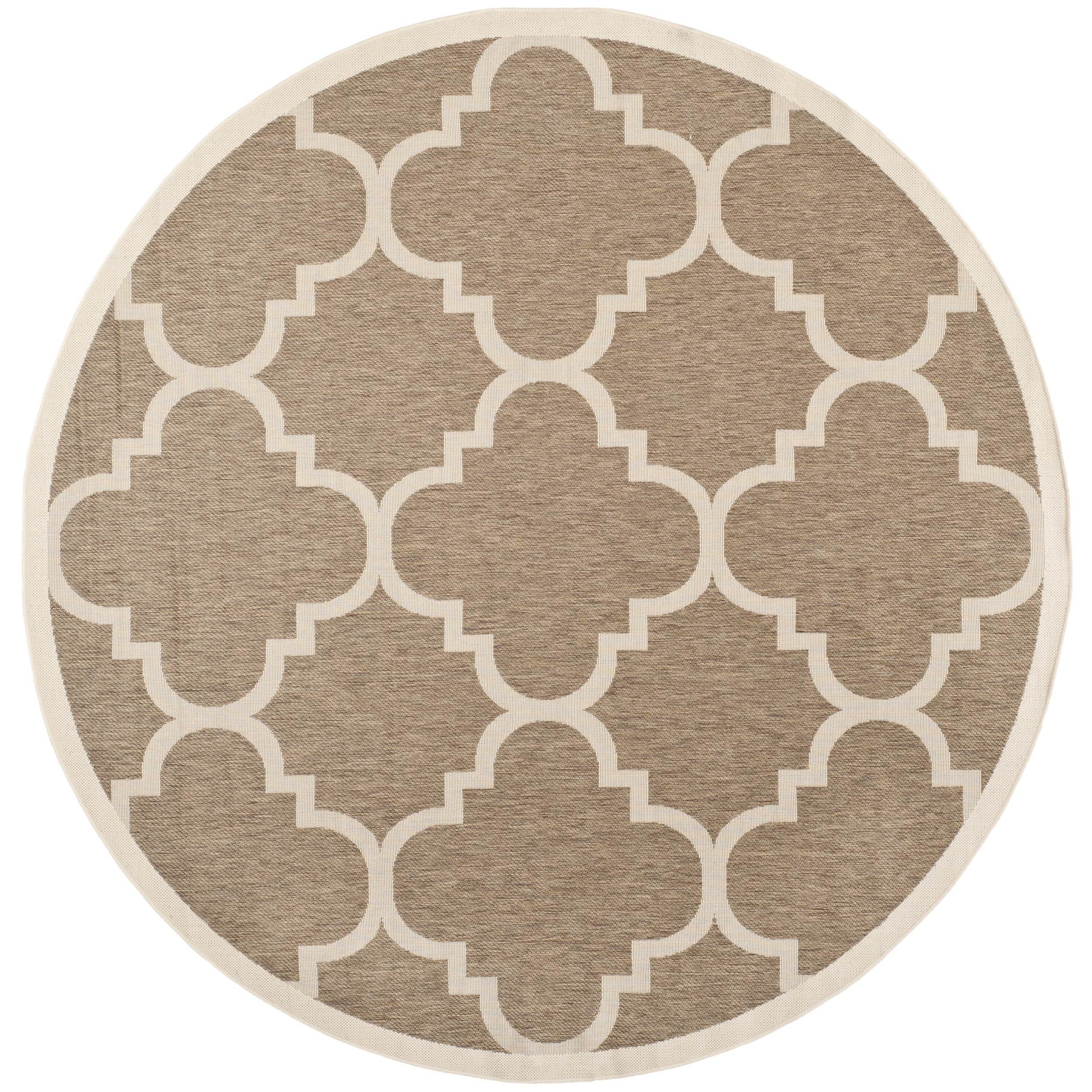 Safavieh Indoor/ Outdoor Courtyard Brown Rug (710 Round)
