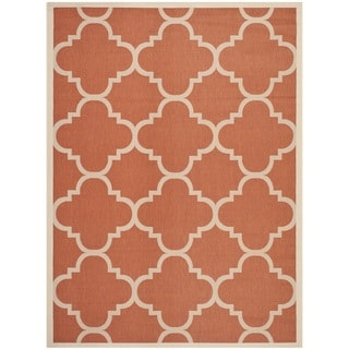 Safavieh Courtyard Quatrefoil Terracotta Indoor/ Outdoor Rug (9' x 12')