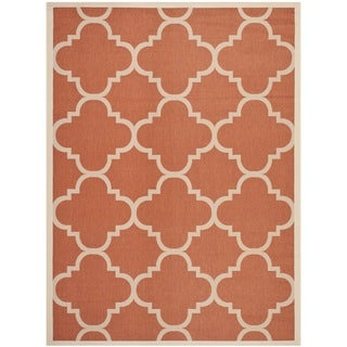 Safavieh Courtyard Quatrefoil Terracotta Indoor/ Outdoor Rug (5'3 x 7'7)