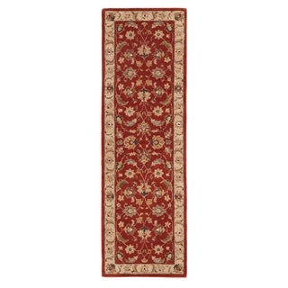 Hand-tufted Traditional Oriental Red/ Orange Rug (2'6 x 6')