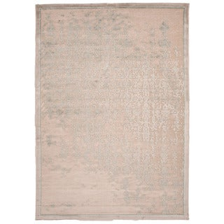 Contemporary Abstract Pattern Ivory Rug (2' x 3')