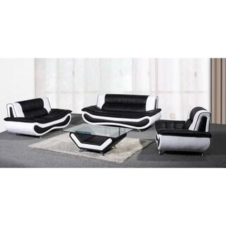 Christina Two-tone Bonded Leather Sofa Set