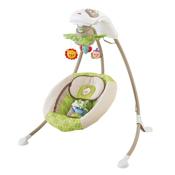 Shop Fisher Price Rainforest Friends Deluxe Cradle N Swing