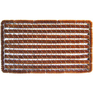 Rectangle Stripes Coir and Wire Mat (1'5 x 3'5)