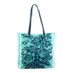 Women's Amy Butler Alissa Tote Cabbage Rose Turquoise