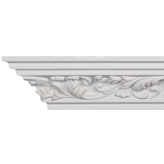 4-inch Scrolling Leaf Crown Molding (8 pieces)