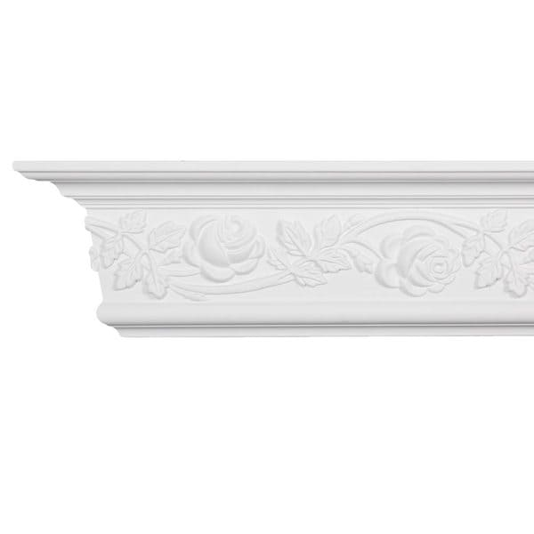 Scrolling floral crown molding pack of 8 for 9 inch crown molding