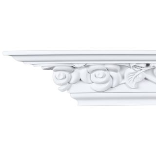 4.5-inch Floral Crown Molding