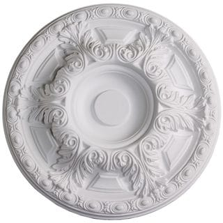 Single 23.6-inch Acanthus Leaf/ Egg Ceiling Medallion