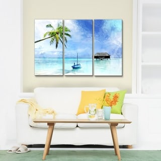 Ready2HangArt 'Tropical' 3-piece Gallery-wrapped Canvas Wall Art Set