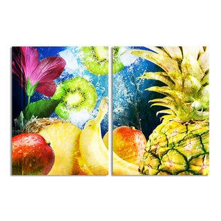 Ready2HangArt 'Tropical Fruit' 2-piece Gallery-wrapped Canvas Wall Art Set