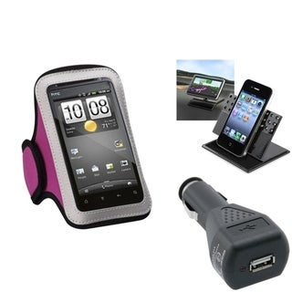 INSTEN Car Charger/ Dashboard Holder/ Armband Phone Case for Apple iPhone 5/ 5C/ 5S/ SE