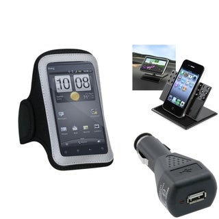 INSTEN Car Charger/ Dashboard Holder/ Armband Phone Case for Apple iPhone 5/ 5S/ 5C/ SE