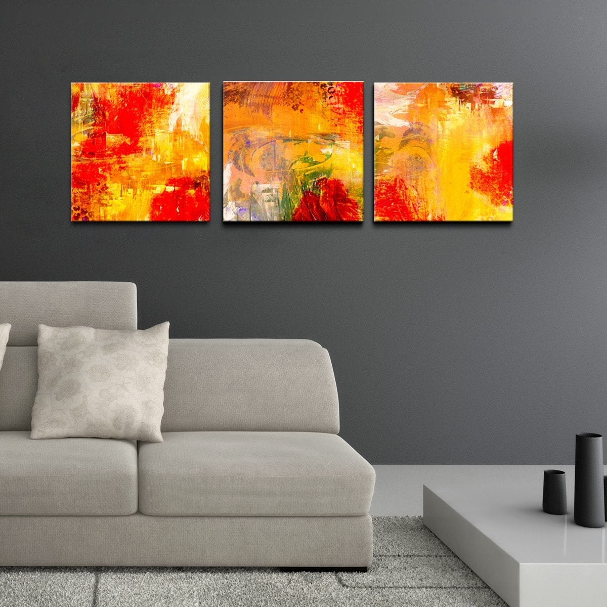 RCA Ready2HangArt 'Abstract' 3-piece Gallery-wrapped Canv...