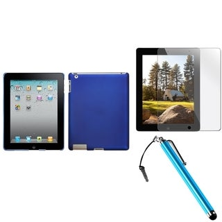 INSTEN Dark Blue Tablet Case Cover/ Stylus/ Screen Protector for Apple iPad 2/ 3/ 4