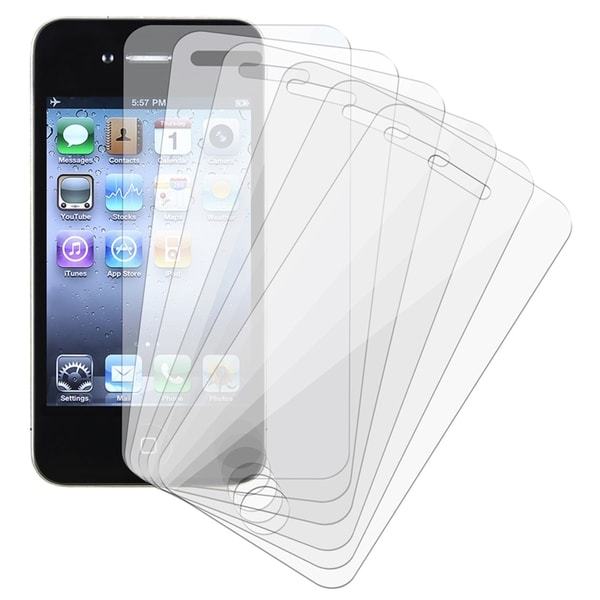 INSTEN Clear Screen Protector for Apple iPhone 4 AT&T/ Verizon (Pack of 6)