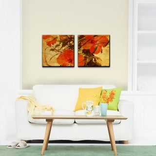 Ready2HangArt 'Tropical Hibiscus' 2-piece Gallery-wrapped Canvas Wall Art Set