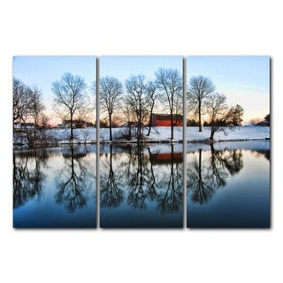 Chris Doherty 'Barn' Acrylic Art 3-piece Set