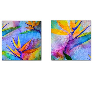 Ready2HangArt 'Tropical Birds of Paradise' Canvas Wall Art (Set of 2)