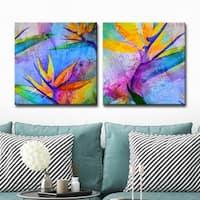 Ready2HangArt 'Tropical Birds of Paradise' 2-Piece Canvas Wall Art Set - Multi-color
