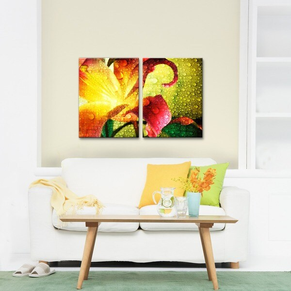Ready2HangArt \'Tropical Hibiscus\' Canvas Wall Art (2 pieces) - Free ...