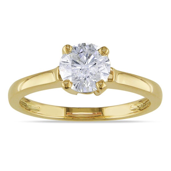Miadora Signature Collection 14k Yellow Gold 1ct TDW Diamond Solitaire Ring